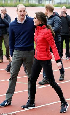 William Duke of Cambridge and Catherine Duchess of Cambridge take part in a relay race at Londons Olympic Park. February 5 2017