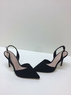 2bd50b69e310 ALDO Black Suede Leather Pointy Toe Slingback Heels Womens Size 6.5   fashion  clothing  shoes  accessories  womensshoes  heels (ebay link)
