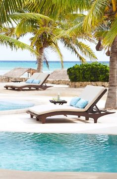 On a long, sandy beach facing the Caribbean, the Viceroy Riviera Maya is surrounded by tropical gardens and has a laid-back boho spirit.