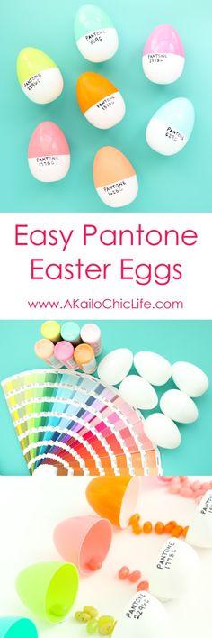 Craft It - Plastic Pantone Easter Eggs