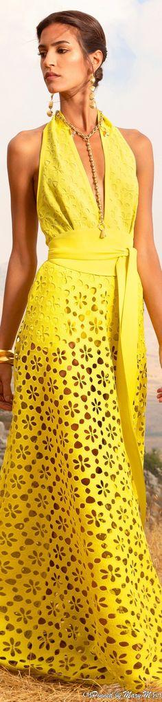 Runway Fashion, Fashion Beauty, Womens Fashion, Dress Skirt, Lace Dress, Elie Saab Couture, Yellow Fashion, Mellow Yellow, Fashion Stylist
