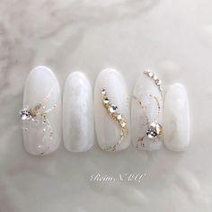 Korean Nail Art, Korean Nails, Cute Acrylic Nails, Pastel Nails, Dope Nails, Swag Nails, White Nail Designs, Nail Art Designs, Red And White Nails