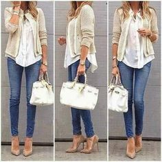 Great casual use of structured jacket, love the look!