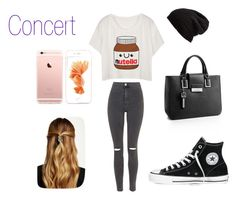 """""""Concert"""" by anonymous-0 ❤ liked on Polyvore featuring Topshop, Converse, Calvin Klein, Free People and Natasha Accessories"""