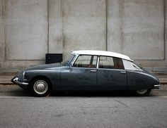 Grey Citroen by.oliver via sfgirlbybay.  Most beautiful car ever!