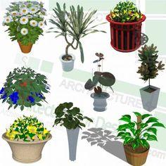 Sketchup Models, Playground Design, Landscape Architecture Design, Parking Design, Landscaping Plants, Trees And Shrubs, Flower Pots, Planting Flowers, 2d