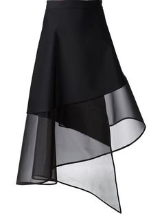 David Koma Sheer Hem A-line Wrap Skirt - Bonvicini - Farfetch.com