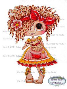 Téléchargement instantané numérique Digi Stamps ventru grosse tête poupées nouveau Bestie Scan0001 62315 mon Besties par Sherri Baldy
