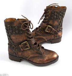 MIA Shoes Spikke Military Metallic Boot
