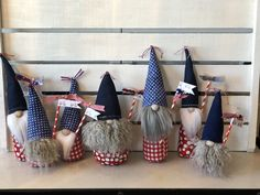 Fourth of July Gnomes these were so fun to make!