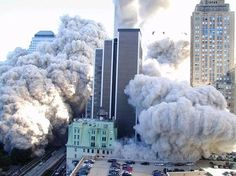 September 11, 2001 | One of the Twin Towers collapsing.