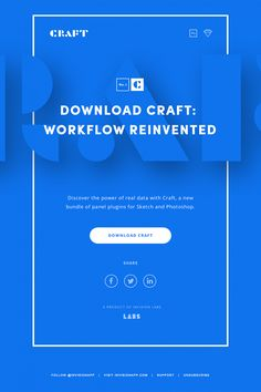 Minimal, clean, blue email design