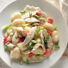 Creamed Chicken with Gnocchi Dumplings