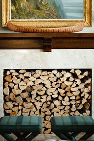 Way to fill up an unused fireplace