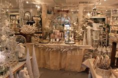 vintage shop display - I love the blend of colors and textures here.