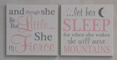 Nursery Signs  Two Signs: She is Fierce She will by NelsonsGifts