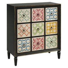 Midea Accent Chest - Love the colors & multiple drawers.