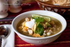 Chicken Tomatillo Soup Recipe | Pressure Cooking Today