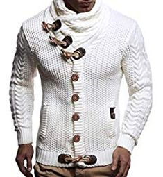 af6a2fc38c8084 New Leif Nelson Men's Knitted Jacket Turtleneck Cardigan Winter Pullover  Hoodies Casual Sweaters Jumper online - Alltrendytop