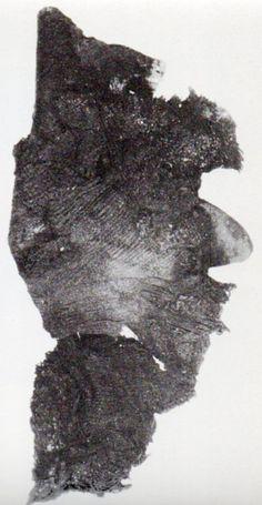 Çatalhöyük, TE VI'de bulunan kumaş parçası James Mellaart (Erdinç Bakla archive)