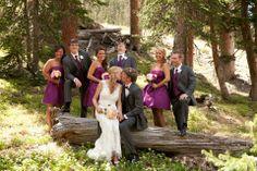 Wedding party photo, Rocky Mountains, ABasin, Black Mountain Loge, Colorado