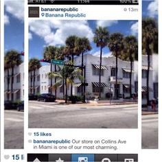 Loja da Banana Republic na Collins Ave em Miami. Descubra os pontos mais badalados de compras de Miami no site www.vejamiami.com  #vejamiami