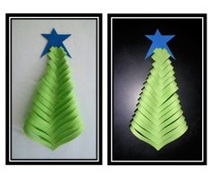 Paper Christmas Tree: - Paper christmas tree is made using color paper and can be used for decoration during christmas time.Materials needed:- A Square sheet of paper- Scissors- Scale- Pencil- Glue Christmas Tress, Christmas Tree Crafts, Paper Tree, Evergreen Trees, Kids Cards, Art Ideas, Card Making, Paper Crafts, Holiday