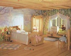 so cute for a little girls bedroom! I would've loved this when I was little