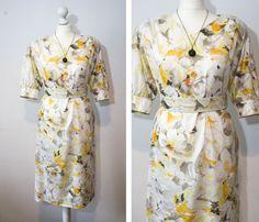 Italian Vintage Yellow 80s Belted Dress by BelmondoVintage on Etsy