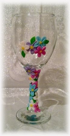 Polymer clay wine glass