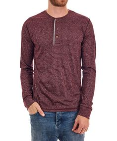 This Burgundy Dillon Henley is perfect! #zulilyfinds