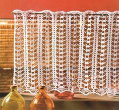 Delicadezas en crochet Gabriela: Visillos en crochet