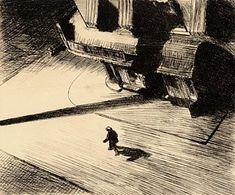 Melancholy Painting - Night Shadows by Edward Hopper