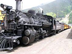 Durango and Silverton narrow gauge railroad in Colorado