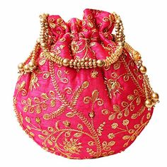 Potli Bags, Embroidery Bags, Crewel Embroidery, Work Gifts, Coin Bag, Cute Bags, Casual Bags, Embroidered Silk, Pouch Bag