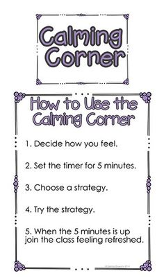 a Calming Corner in Your Classroom Calming Classroom PosterCalming Classroom Poster Calm Classroom, Classroom Posters, School Classroom, Classroom Ideas, Future Classroom, Mindful Classroom, Coping Skills, Social Skills, Social Work