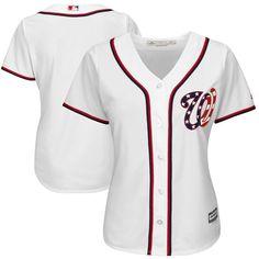 Washington Nationals Majestic Women's 2017 Cool Base Team Jersey - White