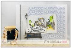 "Couleuretscrap : Tampons & matrices de coupe (dies) #4enscrap ""Carpe Diem"" Scrapbook Cards, Scrapbooking, Tampons, Mini Albums, Bookends, Planning, Carpe Diem, Hui, Card Ideas"