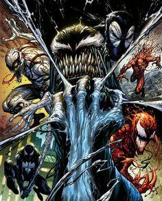 Venom KRS Comics Exclusive Virgin Variant Cover by Tyler Kirkham