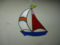 Sail boat stained glass suncatcher by NitasStainedGlass on Etsy, $10.00