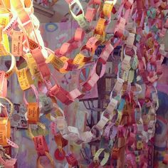 Ticket Roll Paper Chains DIY - Great for movie night party
