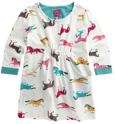 This cute gathered tunic with two front pockets is perfect for your little one that loves horses! Joules Junior Lissy Long Sleeve Top features a colorful pony print with a creme background, contrasting colors on the cuffs and inside neckline and a slight gather at the waist. Pair this tunic with Joules Junior Jodding Leggings and a cute some Joules Wellies!  http://www.tackroominc.com/joules-junior-lissy-long-sleeve-tunic-creme-p-17360.html