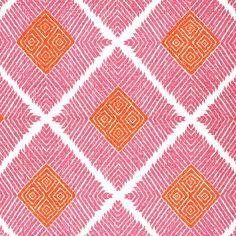 John Robshaw Textiles - Phulkari Lotus - Blockprinted Linens - Fabric