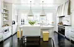 veranda, love the barstool bench and pop of Yellow