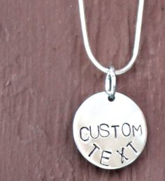 Custom Hand Stamped  Pendant Stainless Steel by missioncatnip, $12.00