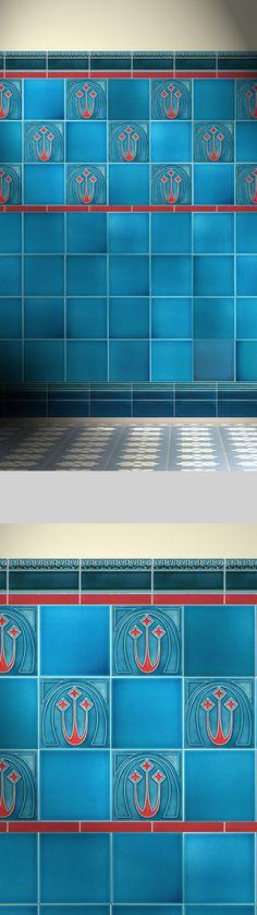 24 best tiles images tiles, tiling, tilegolem reproduction jugendstyl tile, berlin