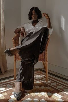 Survival of the Chicest: The Versatile Staples to Buy Now and Wear Forever Classic Fashion, Classic Style, My Style, Wide Trousers, Who What Wear, Buy Now, Survival, Street Style, How To Wear