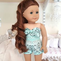 18 inch doll shorts and bustier by SewCuteForever on Etsy https://www.etsy.com/listing/455979862/18-inch-doll-shorts-and-bustier
