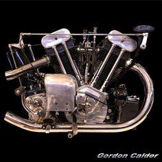 (No. 119 ~ CLASSIC 1932 1,000cc BROUGH SUPERIOR SS100, by Gordon Calder, via…