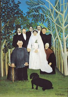 Henri Rousseau, 'Le Douanier',  The Wedding Party, c.1905  This way Kezzie can be in the wedding party too!